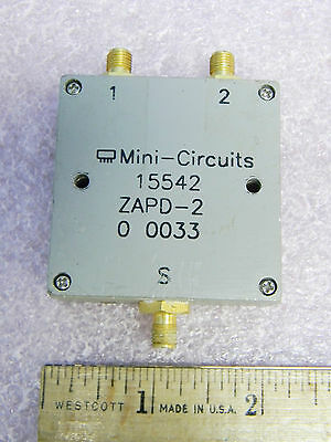Mini-Circuits ZAPD-2 SMA DC Pass Power Splitter/Combiner 2-Way 1-2 GHz TESTED