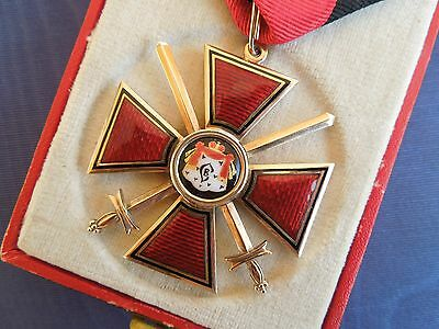 RUSSIAN ORDER OF ST. VLADIMIR OF THE III CLASS WITH THE RIBBON + original BOX