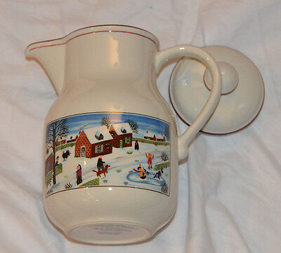 Villeroy & Boch Naif Christmas COFFEE POT - Laplau - OFF WHITE MULTICOLOR