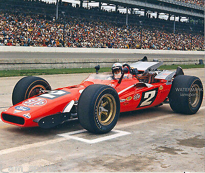 MARIO ANDRETTI 1969 INDIANAPOLIS 500 INDY WINNER STP RACING 8x10 PHOTO