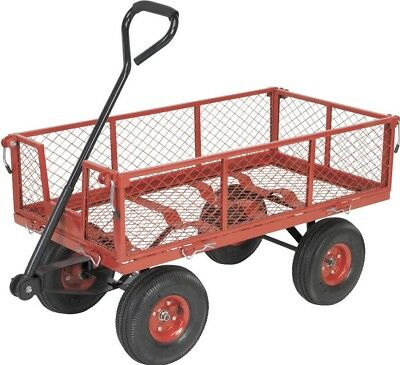 Sealey Platform Truck with Sides Pneumatic Tyres 200kg Capacity