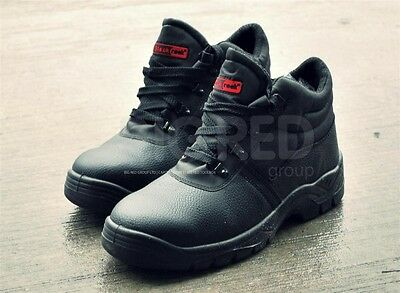 Blackrock Chukka Safety Work Boots Leather Steel Toe Cap & Midsole Size Mens New