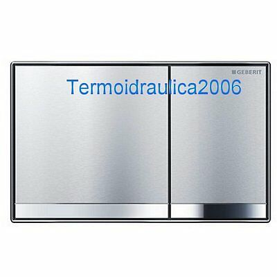 Geberit Sigma60 Plate for Dual Actuators 115.792.GH.1 Brushed Chrome