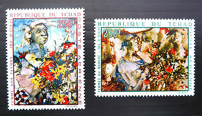 TCHAD 1970 Art Paintings SG297/8 Unmounted Mint NEW LOWER PRICE FP1227