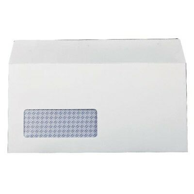 Q-Connect Envelope DL Low Window 100gsm White Self-Seal Pack of 1000