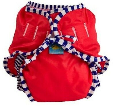 Red Kushies Baby Swim Nappy Diaper Large 11-18kg Unisex Design Great for in pool
