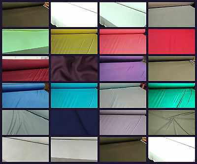 Plain Viscose Jersey Stretch Lycra Fabric Cotton Material 31 COLOURS