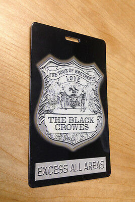 The Black Crowes and Oasis All Access 2-Sided Laminate Pass Brotherly Love Tour