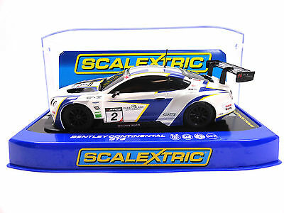 "Scalextric ""Avon Tyres"" Bentley Continental GT3 1/32 Scale Slot Car C3515"