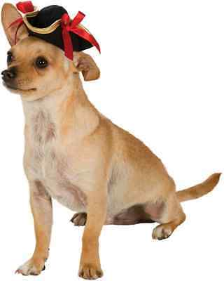 Pirate Girl Hat Caribbean Black Red Halloween Pet Dog Cat Costume Accessory