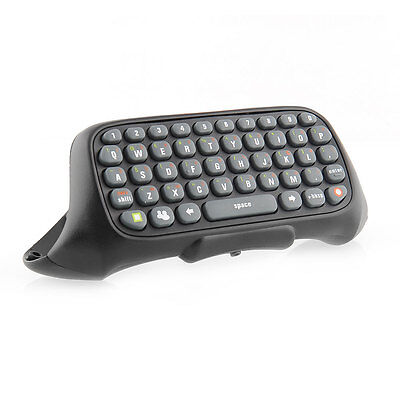 Black Wireless Chatpad Keyboard Text Pad for Xbox 360 Xbox360 Controller