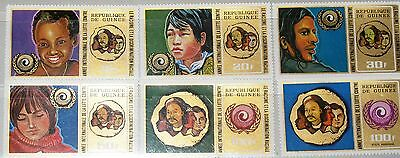 GUINEA 1972 616-21 A 599-03 C119 Intl. Year against racial Discrimination MNH