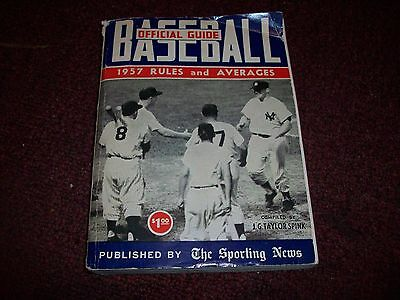 Vintage Set of 3 official guide baseball, rules and averages,,1957,1958,,,1959