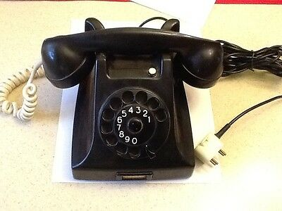 Vintage 1959 PTT Rotary Dial Telephone & cord