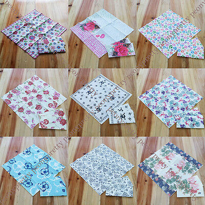 pack of 10 printed paper napkins 3 ply party wedding reception cake dining