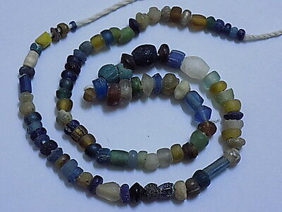 Ancient Roman Glass Beads Strand C.200 BC #BE1730 • CAD $219.49