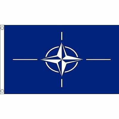 NATO Flag 5 x 3 FT - 100% Polyester With Eyelets - Flag