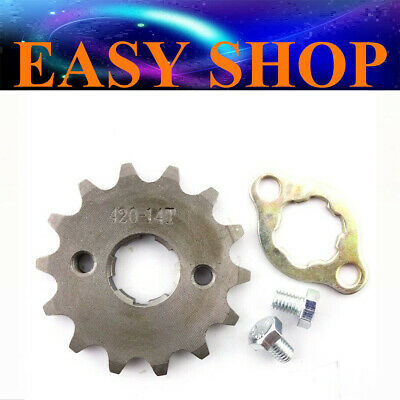 20mm 420 14T Teeth FRONT CHAIN SPROCKET 50 110cc 125cc ATV QUAD DIRT BIKE BUGGY