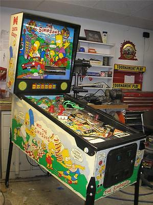 THE SIMPSONS Pinball Game by DATA EAST - HOMER, MARGE, BART!