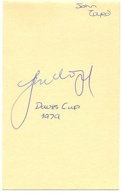 John Lloyd signed autograph album page English tennis player Davis Cup 1979