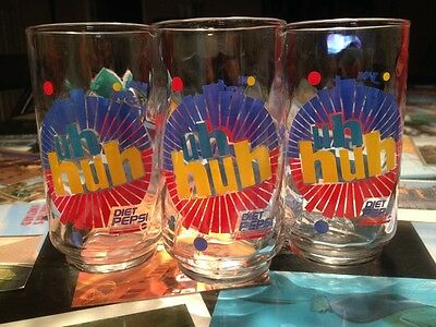 Vtg 1992 Diet Pepsi Glasses Ray Charles Promo You Got the Right One Baby Lot 3