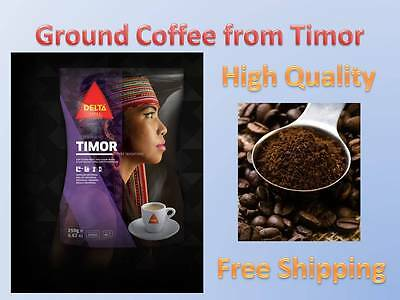 Rare Delta Ground Coffee 8.8oz 250g.From East Timor!