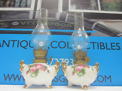 Pair Of Japanese Oil Lanterns With Gold Trim