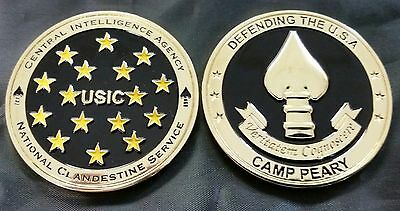 "CIA Central Intelligence Agency USIC NCS National Clandestine Service 2"" Coin"