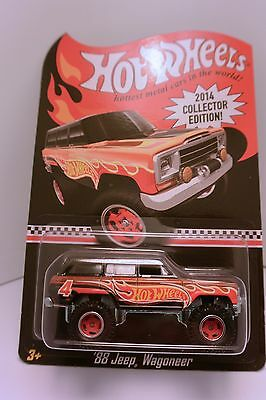 2014 Hot Wheels Toys R Us Mail In #4 88 Jeep Wagoneer Spectraflame Real Riders