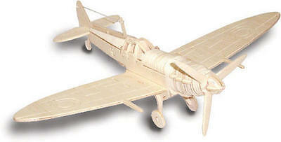 WW2 Spitfire Areoplabe Plane 3D Wooden Modelling Kit Model Jigsaw Puzzle