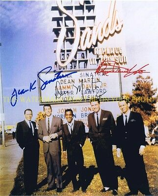 THE RAT PACK CAST AUTOGRAPHED 8x10 RP PHOTO DEAN MARTIN FRANK SINATRA SAMMY JR