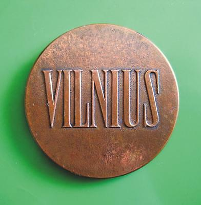 Lithuanian Old Copper Medal VILNIUS Capital of Lithuania