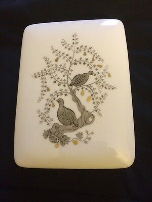 Wedgewood Bone China Trinket Box Partridge in a Pear Tree Excellent