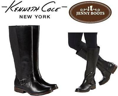 """New"" Kenneth Cole New York Jenny Ladies' Leather Boot Black Size 6-11"