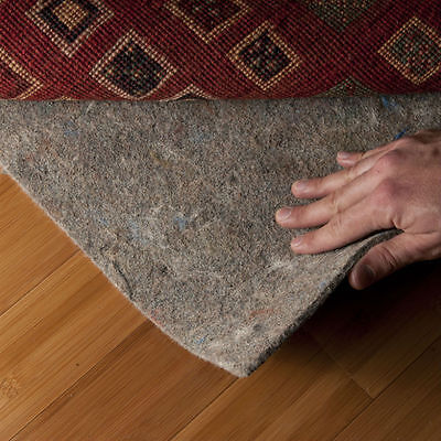 """Eco-Safe 100% Natural Felt Rug Pad - RECTANGLE SIZES - 3/8"""" Thick"""