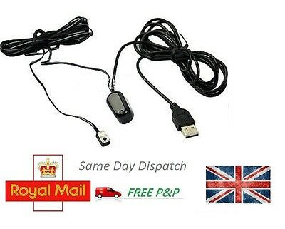 Infrared Remote Control Receiver Emitter USB Adapter IR Extender Repeater EA UK