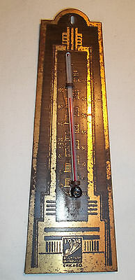 Vintage 1933/1934 CHICAGO WORLDS FAIR Unusual Style HAVOLINE THERMOMETER