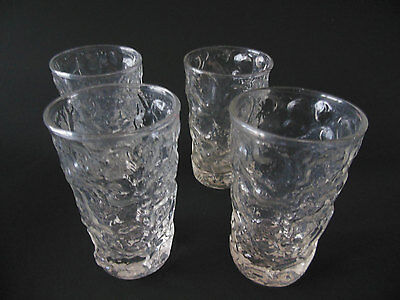 Vintage (Set of 4) Clear Milano Flat Juice Glass Tumbler By Anchor Hocking
