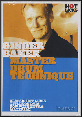Ginger Baker Master Drum Technique Tuition DVD Study With a Rock Legend