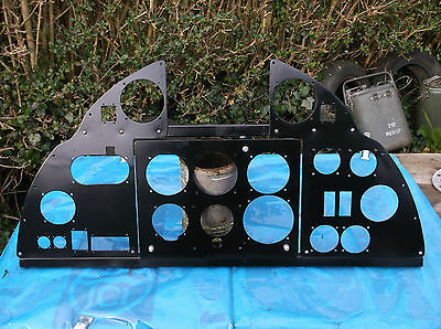 ww2 raf hurricane instrument panel replica holes are correct sizeinstruments fit