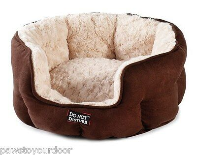 Luxury Oval Cat Bed 'do not disturb' range sharples'n'grant pet 43cm