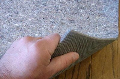 H Plus Non Slip Shaw Recycled Fiber Rug Pad Felt and Rubber for Hardwood Floors
