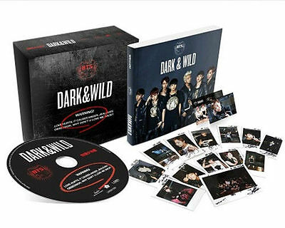 BTS 1st Album DARK & WILD Vol 1: CD +Photobok+PhotoCard+PostCard+Gift Photo bts