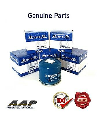 5 x GENUINE HYUNDAI  PETROL OIL FILTER Z79A  WITH TAX INVOICE