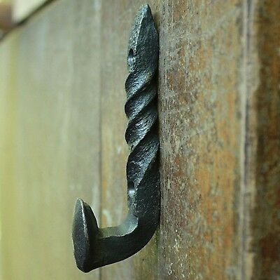 Railroad Spike Coat Hook-Hand Forged Single Twisted Hook Coat,Hat,Tack Hanger