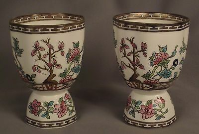 TWO Coalport Indian Tree Double Egg Cups
