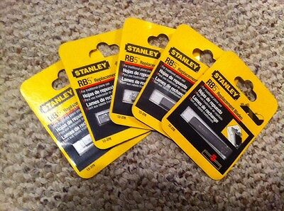 """Stanley RB5 2""""  Plane Blades 5 Pack of #12-378  5 Blades  - Lot of 5 Packs"""