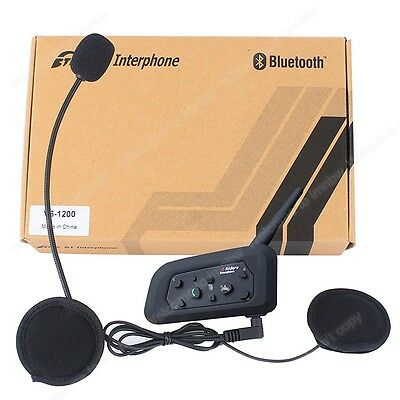 1200M Moto BT bluetooth Intercom motocicleta Interphone auriculares Manos libres
