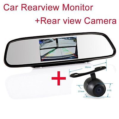 """4.3"""" Screen TFT Car LCD Rear View Rearview DVD Mirror Monitor camera for Dodge"""