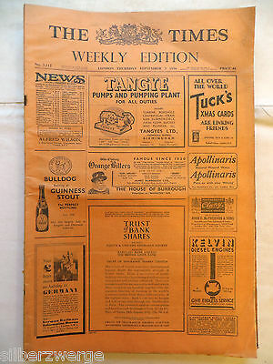 The Times  Weekly Edition  3. Sep. 1936
